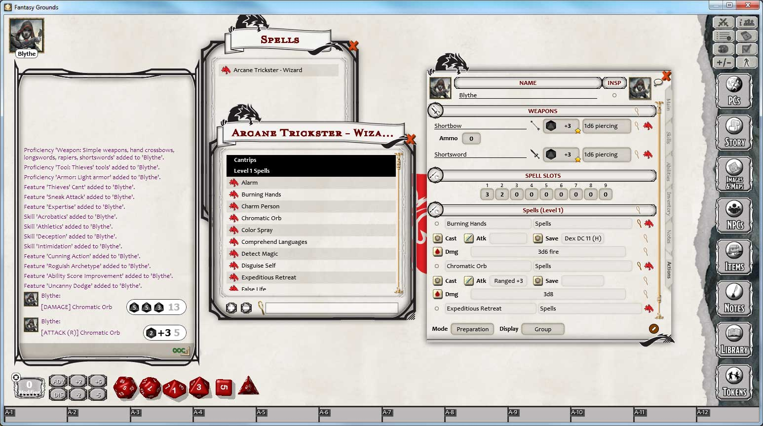Fantasy Grounds - D&D Rogue Class Pack