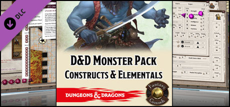 Fantasy Grounds - D&D Monster Pack - Constructs & Elementals