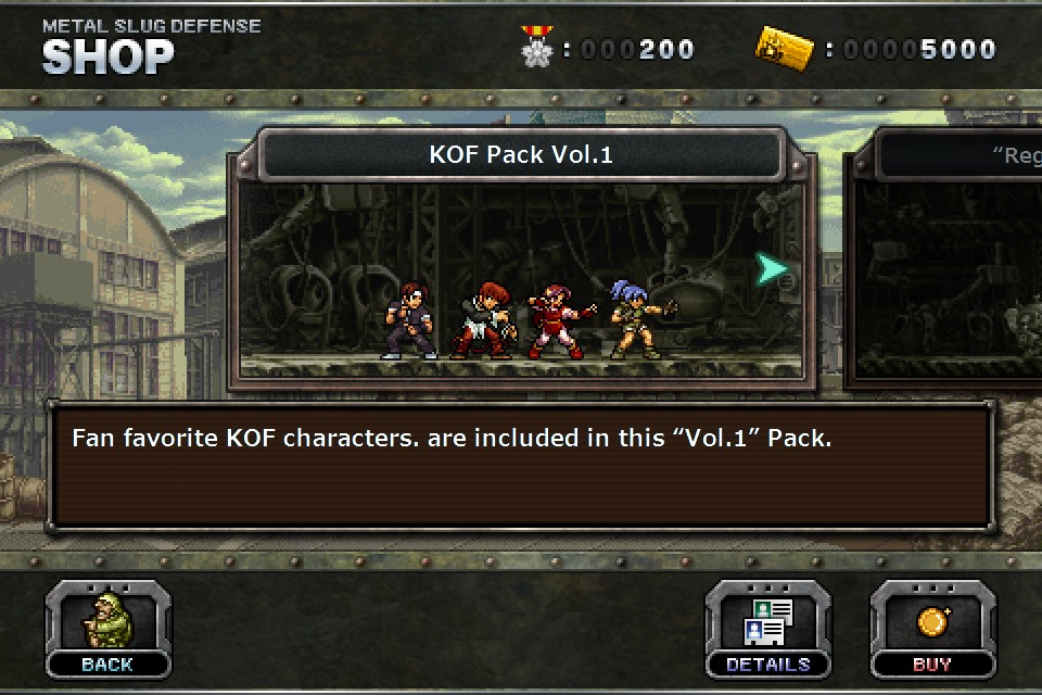 "METAL SLUG DEFENSE - ""KOF Pack"" Vol 1"