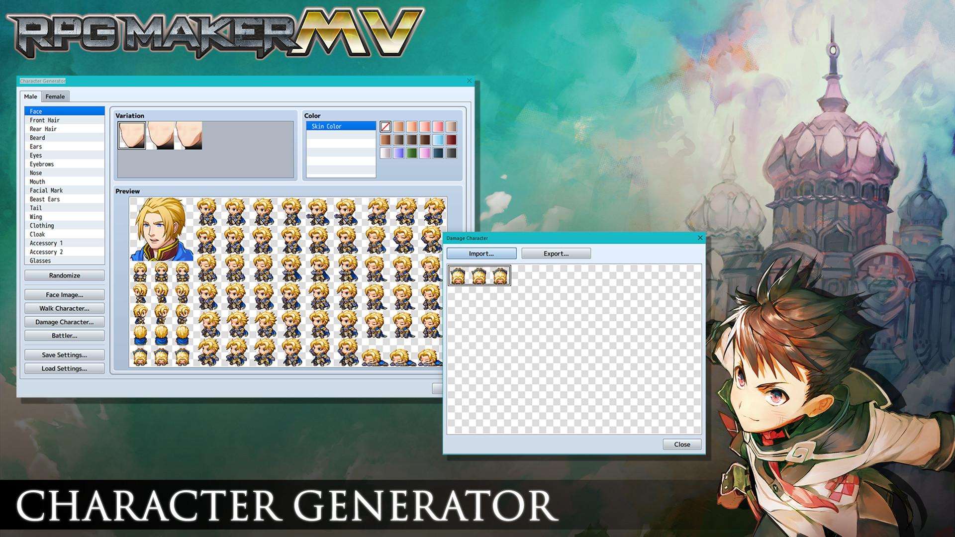 character creator 2d free