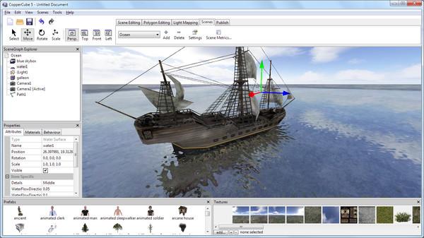 Скриншот из CopperCube 5