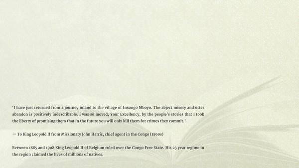 скриншот Unheard Screams - King Leopold II's Rule Over The Congo 1