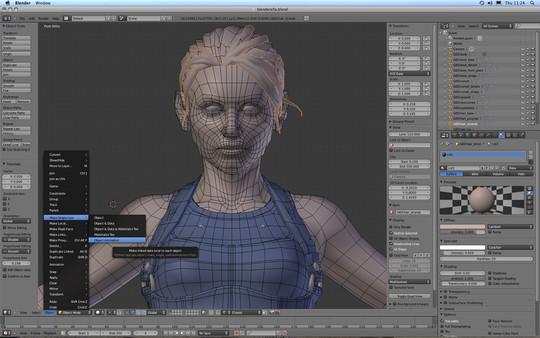 Скриншот из Blender