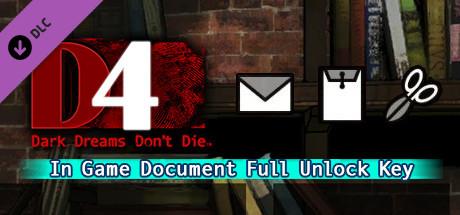 D4: In Game Document Full Unlock Key on Steam