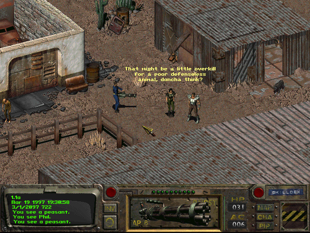 Image result for fallout 1 gameplay
