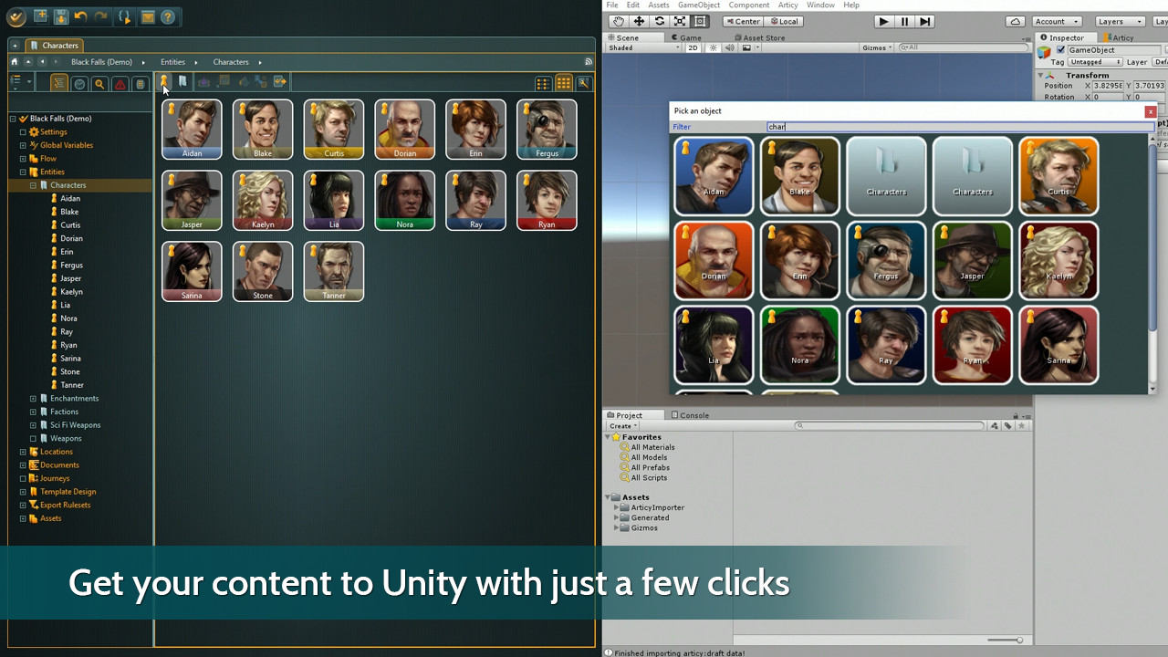 articy draft unity