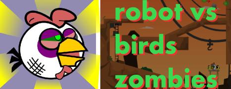Robot vs Birds Zombies - 机器人大战僵尸鸟