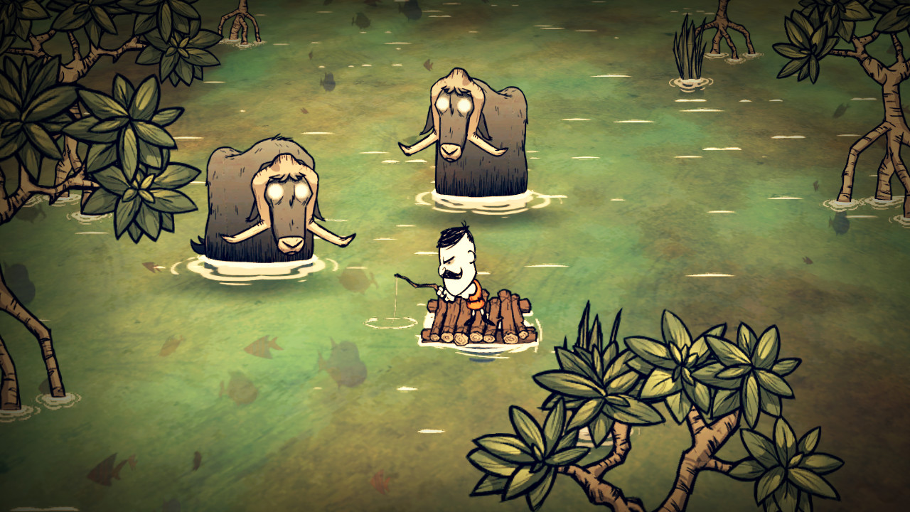 Don't starve: shipwrecked multiplayer a local co-op christmas.