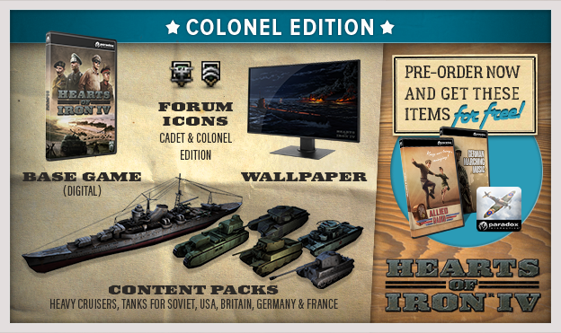 hearts of iron IV colonel edition steam key