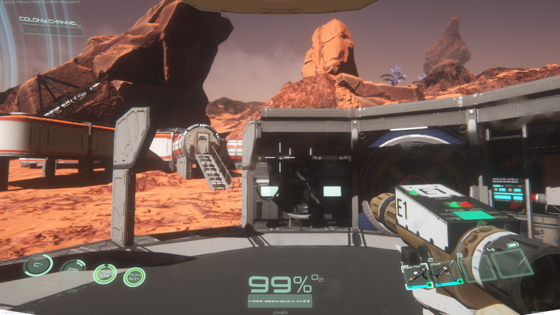 Screenshot of Osiris: New Dawn server hosting
