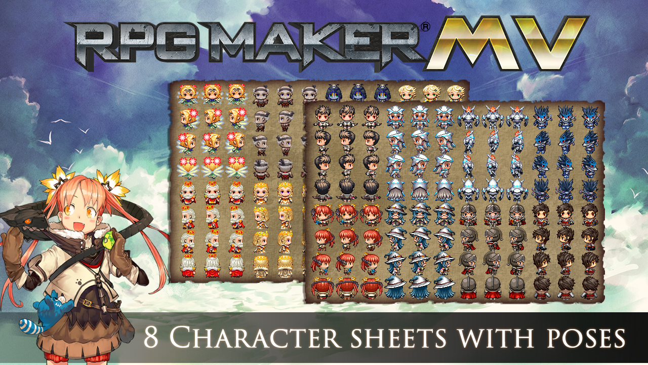 RPG Maker MV - Cover Art Characters Pack