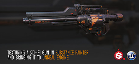Texturing a Sci-Fi Gun in Substance Painter on Steam