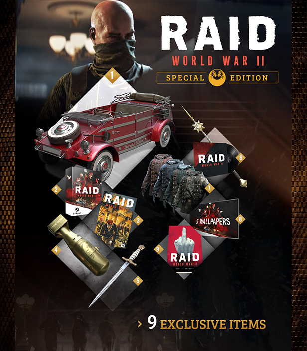 Contenu De RAID World War II Special Edition