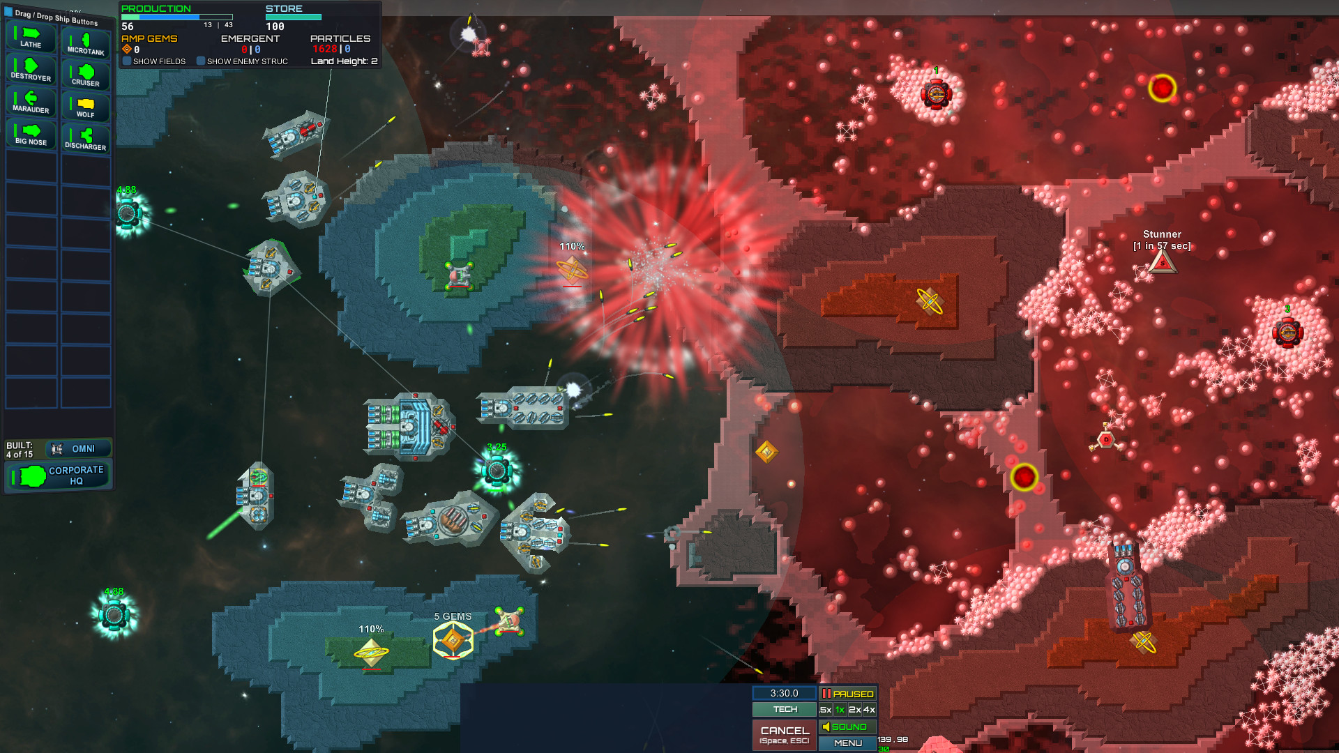 Particle Fleet: Emergence screenshot