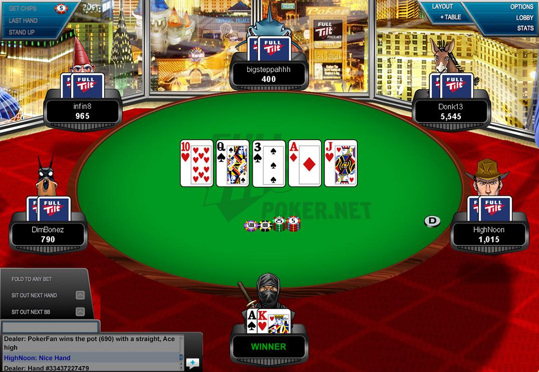 full tilt poker net setup