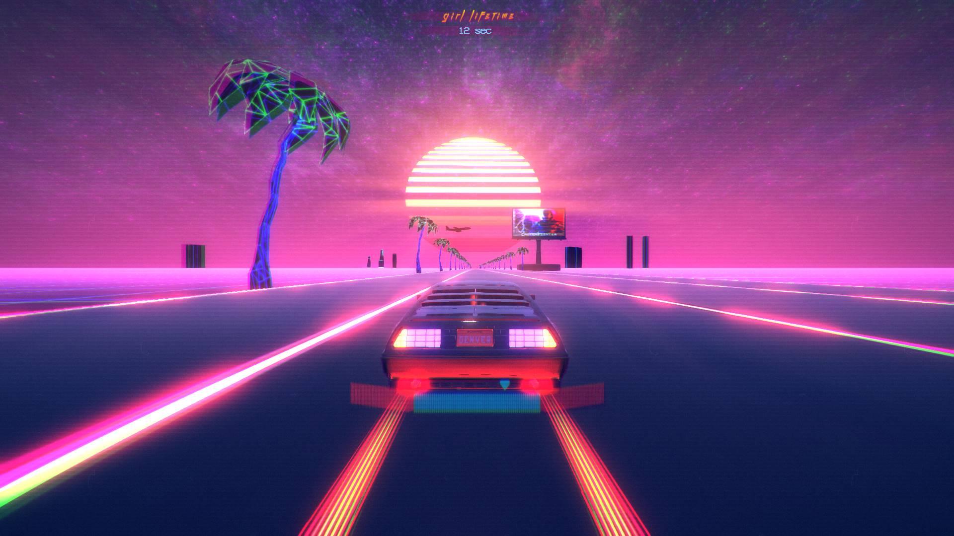 Neon Music Drifting Car Game