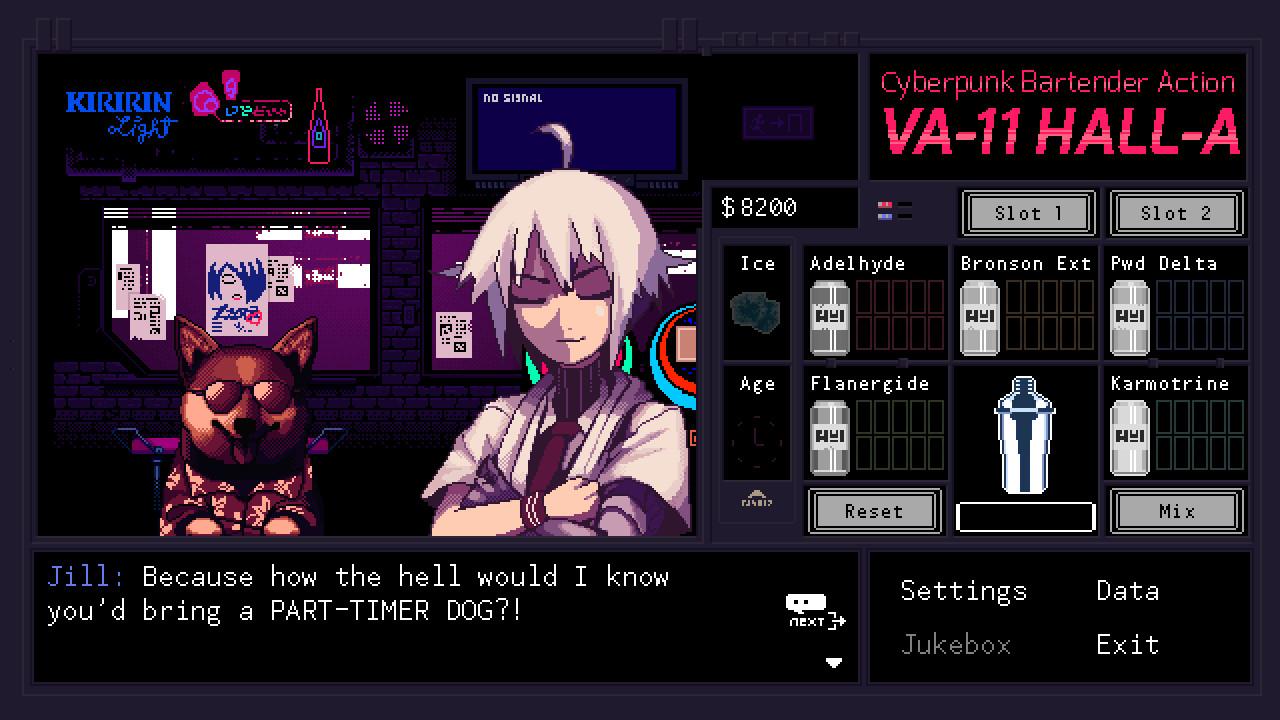 VA-11 HALL-A: Cyberpunk Bartender Action screenshot 1