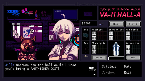 VA-11 Hall-A: Cyberpunk Bartender Action 1
