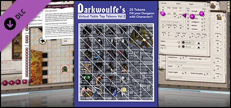 Fantasy Grounds - Top-Down Tokens - Darkwoulfe's Token Pack Vol 2