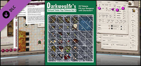 Fantasy Grounds - Top-Down Tokens - Darkwoulfe's Token Pack Vol 3
