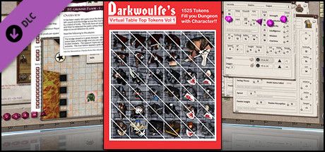 Fantasy Grounds - Top-Down Tokens - Darkwoulfe's Token Pack Vol 1