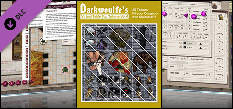 Fantasy Grounds - Top-Down Tokens - Darkwoulfe's Token Pack Vol 4