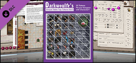 Fantasy Grounds - Top-Down Tokens - Darkwoulfe's Token Pack Vol 5