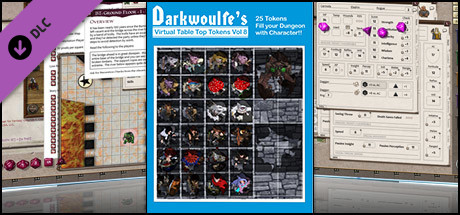 Fantasy Grounds - Top-Down Tokens - Darkwoulfe's Token Pack Vol 8