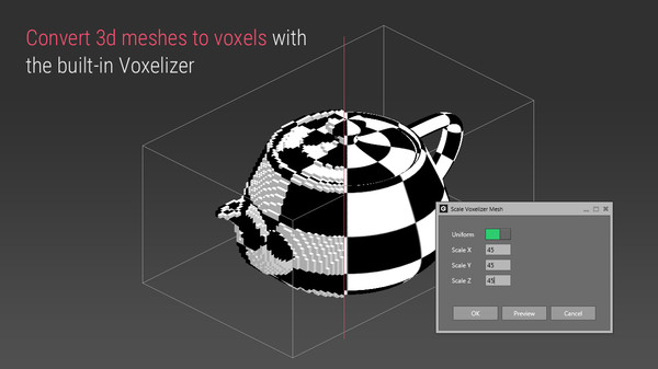 скриншот Qubicle Voxelizer Module 0