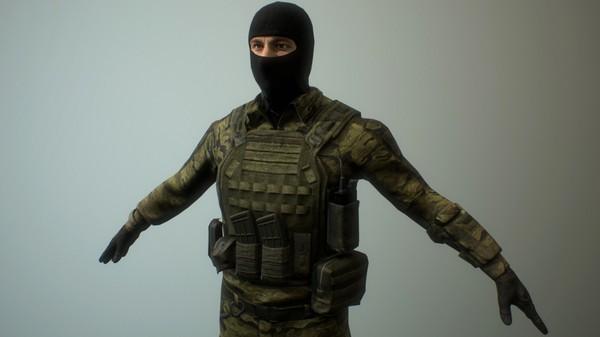 Скриншот из Mercenary Action Figure