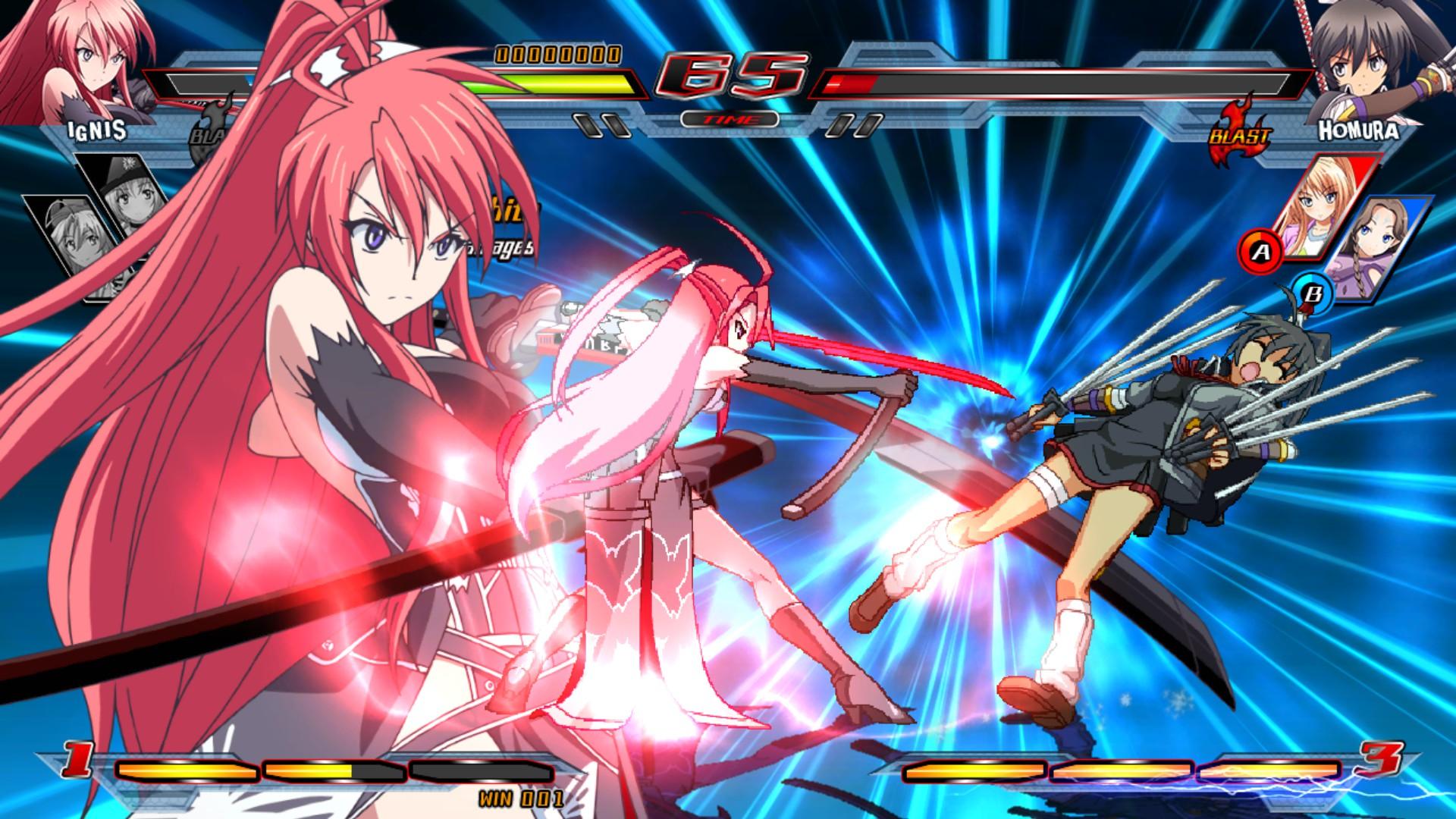 Nitroplus Blasterz: Heroines Infinite Duel Screenshot 2