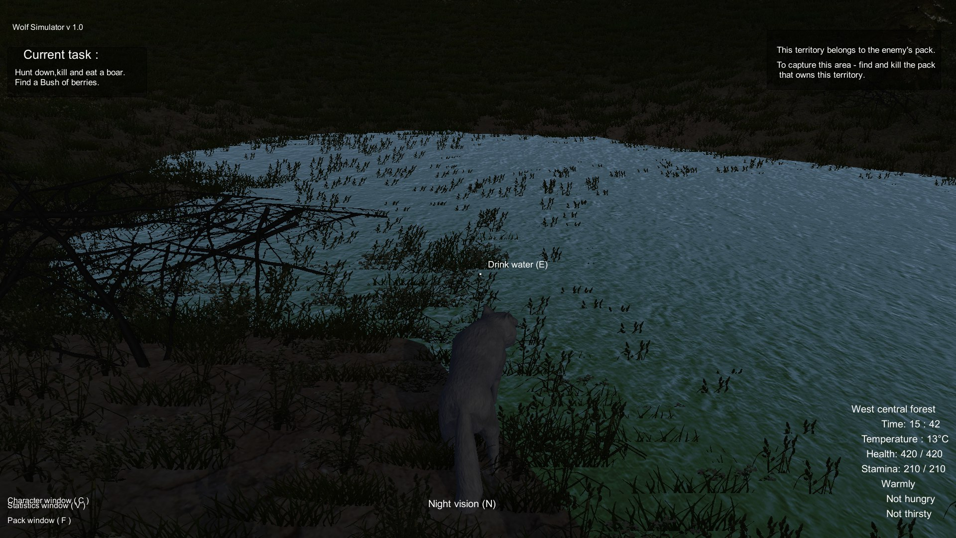 Wolf Simulator Screenshot 2