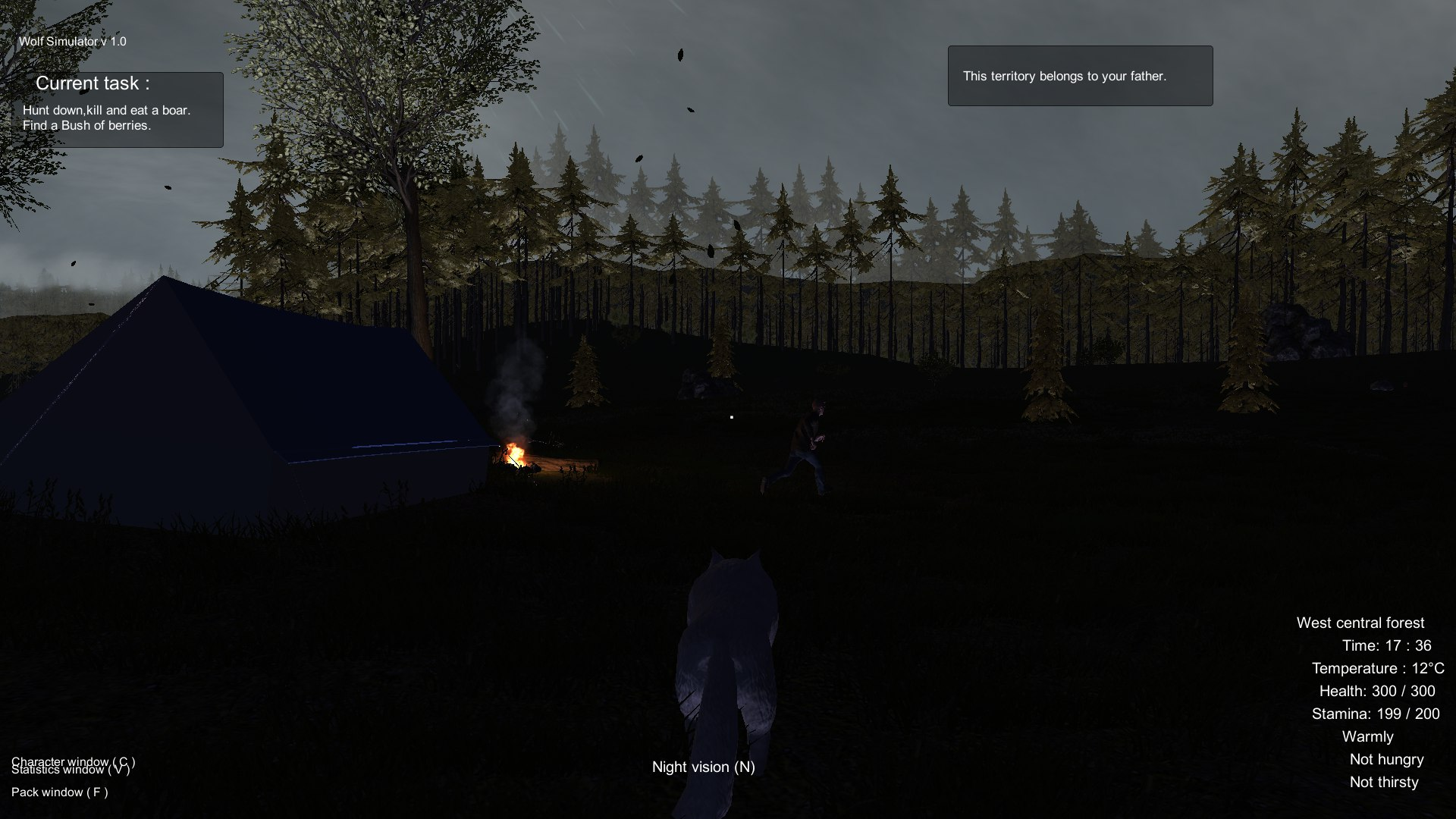 Wolf Simulator Screenshot 1
