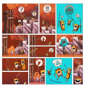 скриншот On Rusty Trails - The Digital Comic 4
