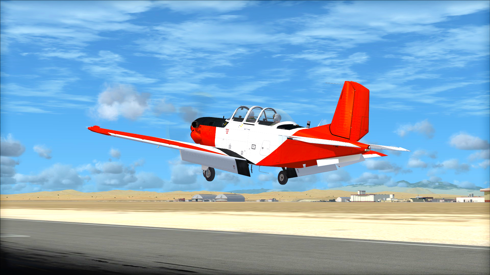 FSX Steam Edition: Beechcraft T-34C Turbo Mentor Add-On