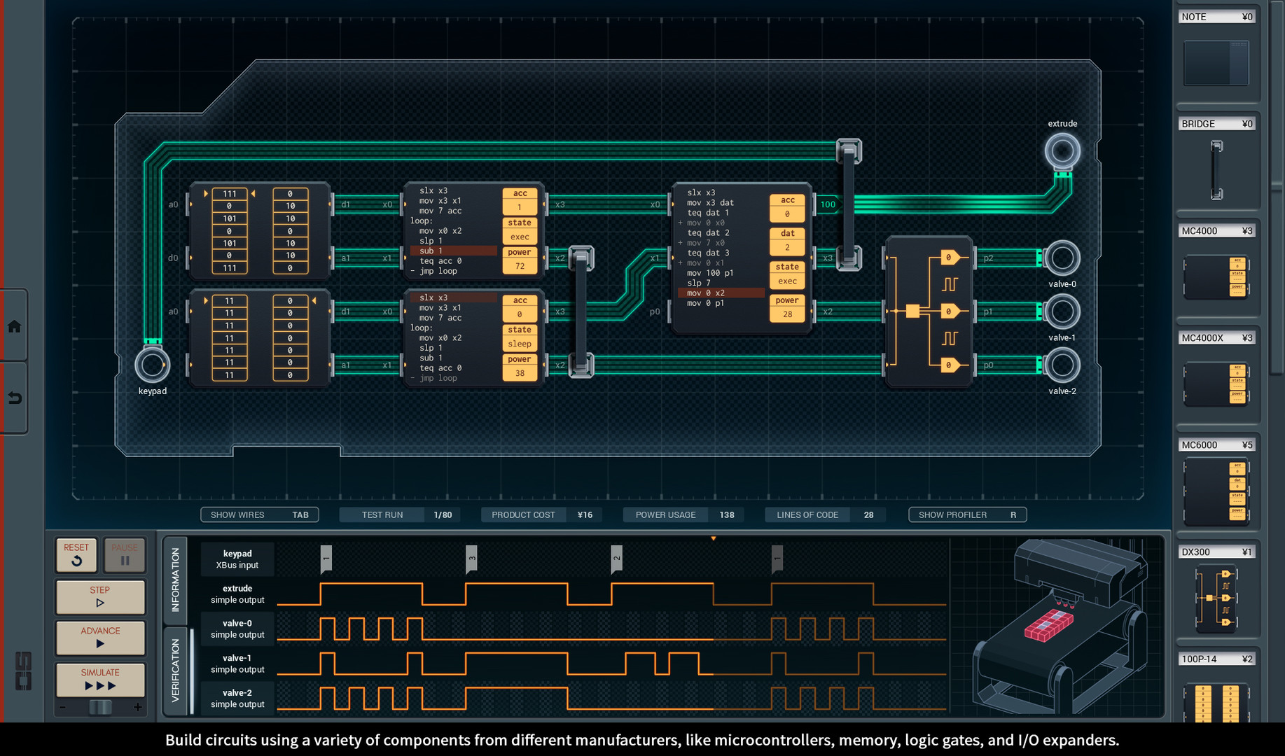 Shenzhen I O On Steam Electronic Circuit Design Software Linux