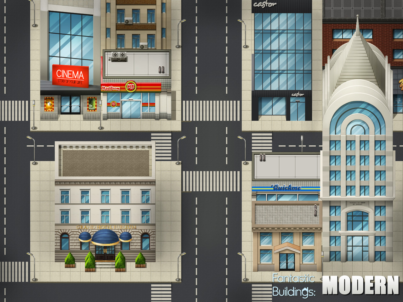 RPG Maker VX Ace - Fantastic Buildings: Modern