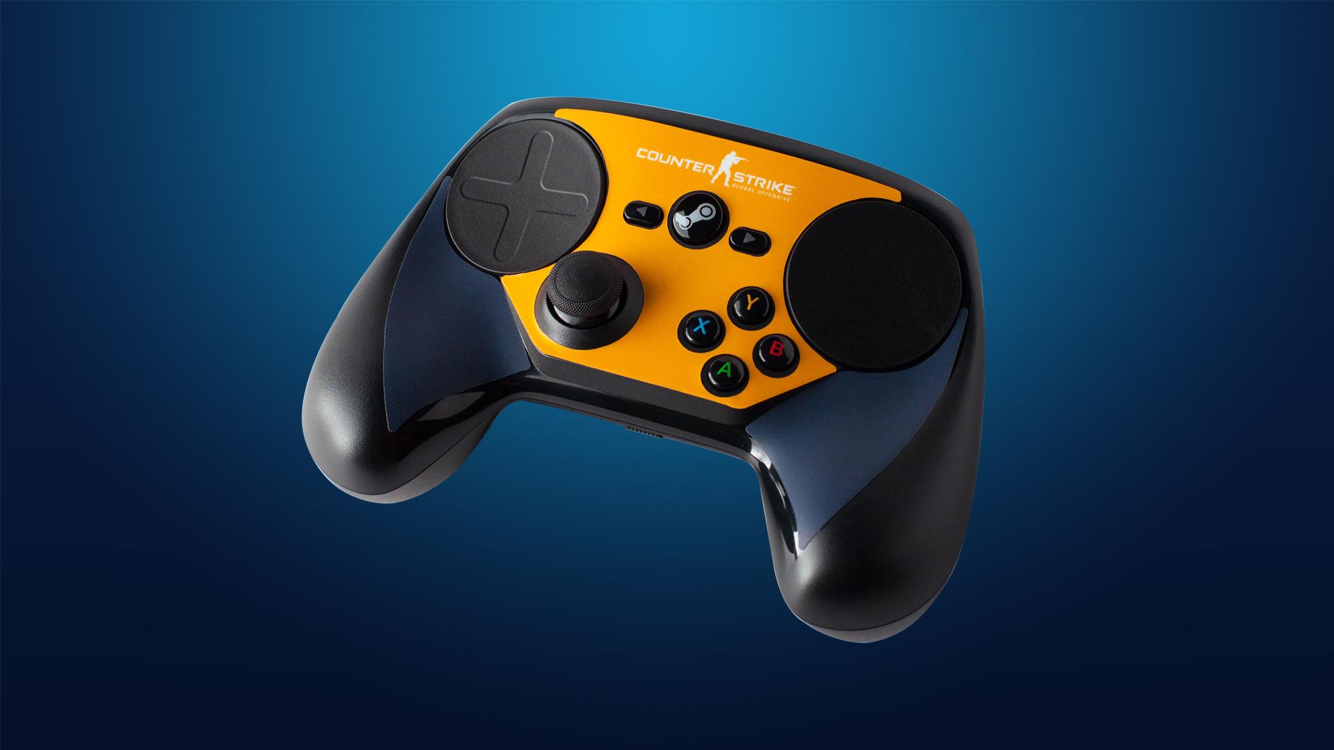 Steam Controller Skin - CSGO Blue/Orange