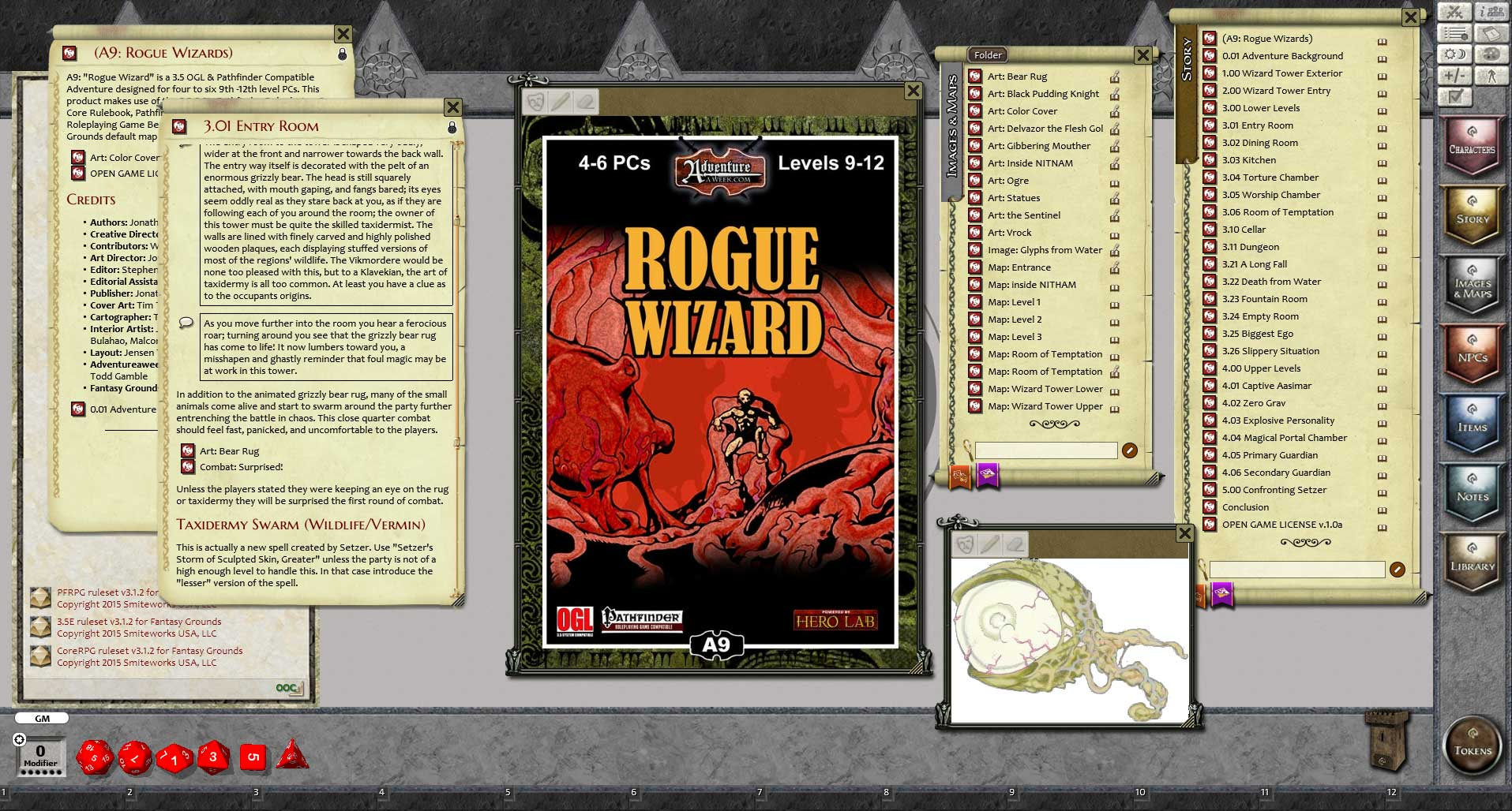 Fantasy Grounds - A09: Rogue Wizard (PFRPG)