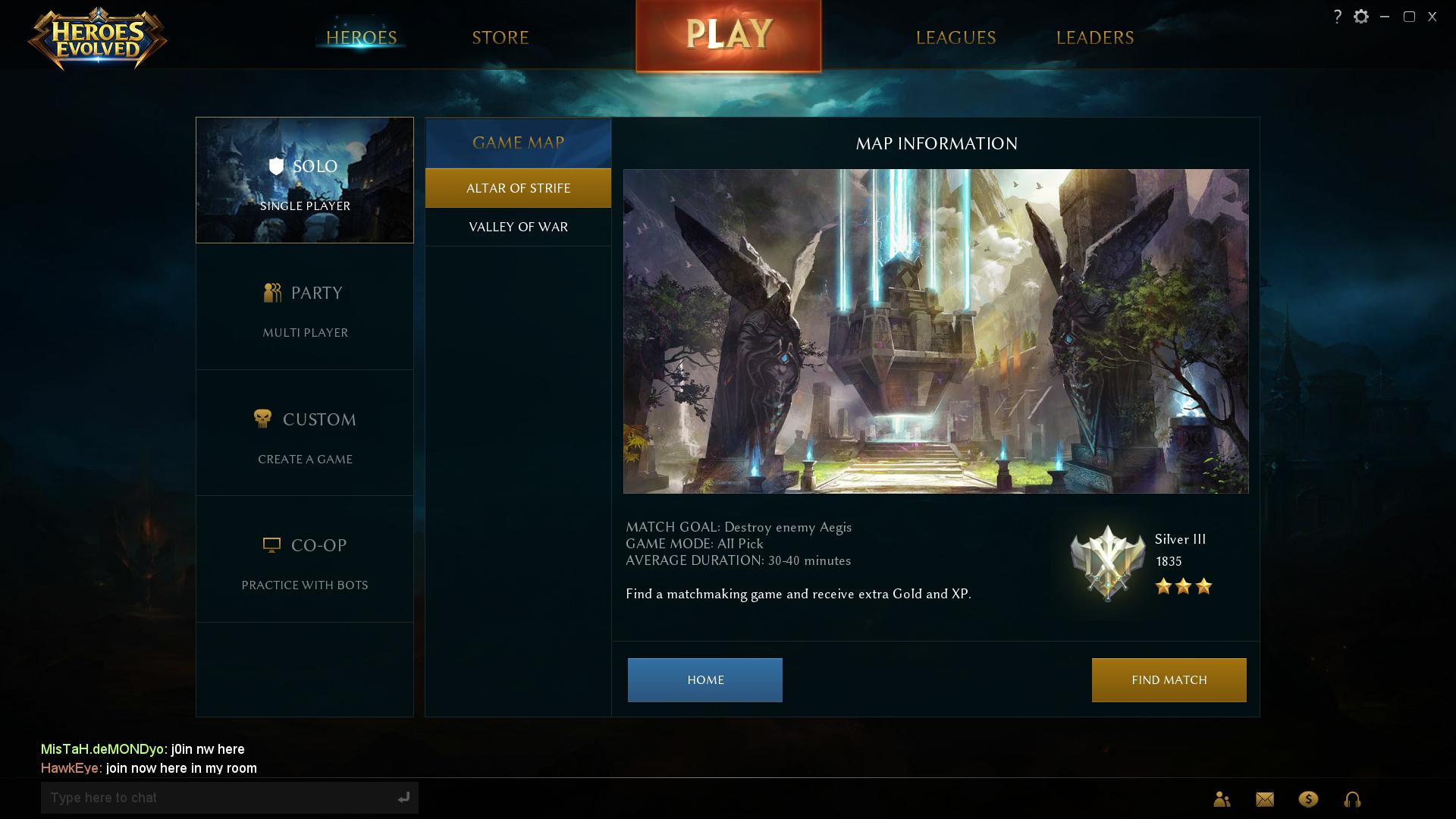 evolve multiplayer matchmaking