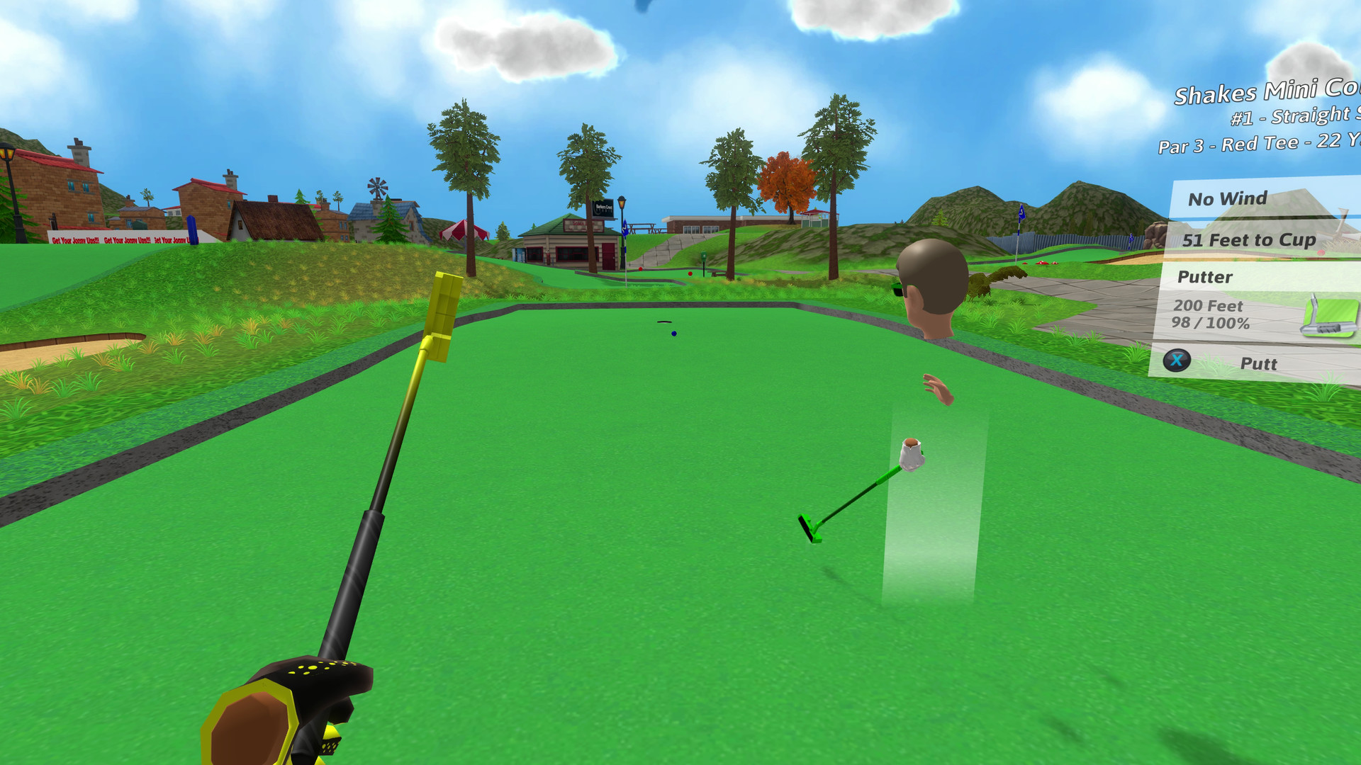 Tee Time Golf on Steam Golf Hole Sign Ideas Html on golf outing signs, funny golf signs, golf shot glasses, golf cart signs, golf flag, golf themed bar, vintage metal golf signs, golf sponsorship signs, golf tee signs, golf lessons sign, mini golf warning signs, wooden golf signs, golf course signs, custom golf signs, golf tournament signs, golf signs home decor, golf banners, golf driving range, golf score card, golf plaques and signs,
