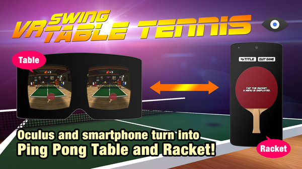 VR Swing Table Tennis Oculus Screenshot
