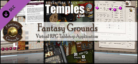 Fantasy Grounds - Temples and Staff (Map and Token Pack)