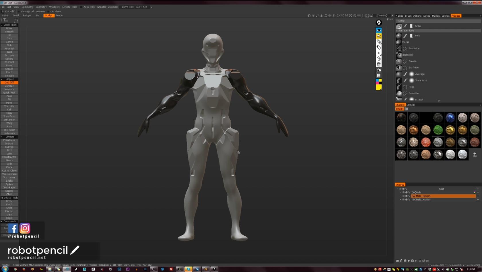 Robotpencil Presents: 3D Coat, Hard Surface Character