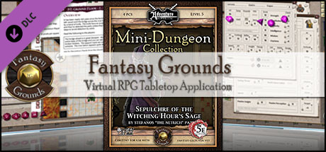 Fantasy Grounds - Mini-Dungeon #020: Sepulchre of the Witching Hour's Sage (5E)