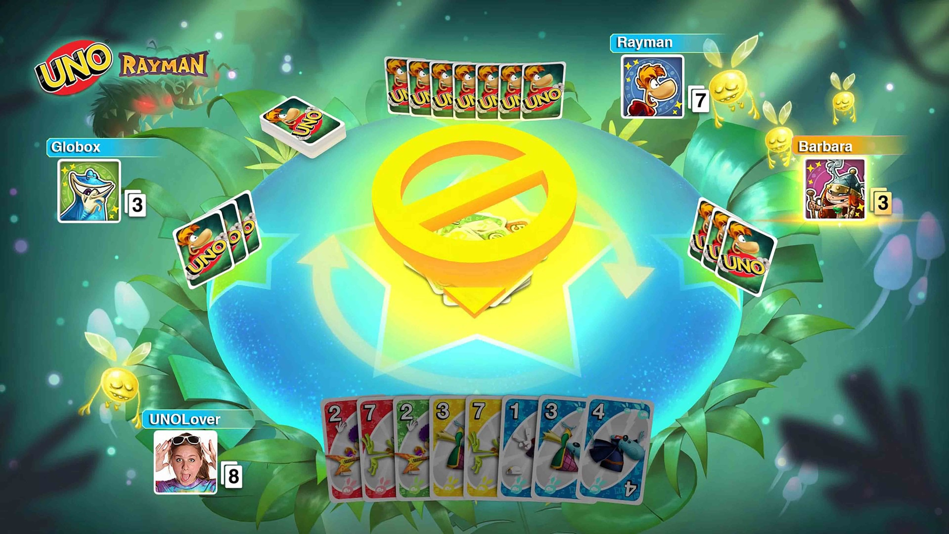 Uno - Rayman Theme Cards