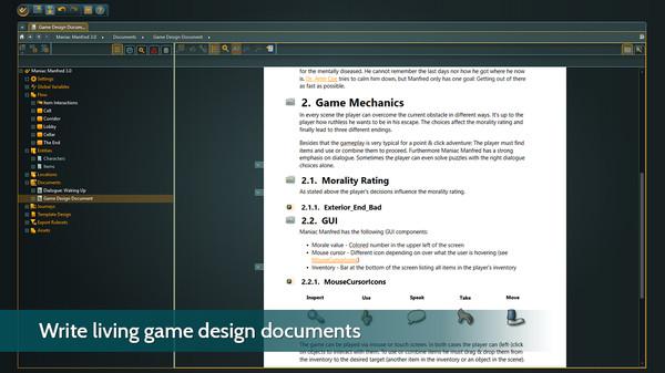 Скриншот из articy:draft 3