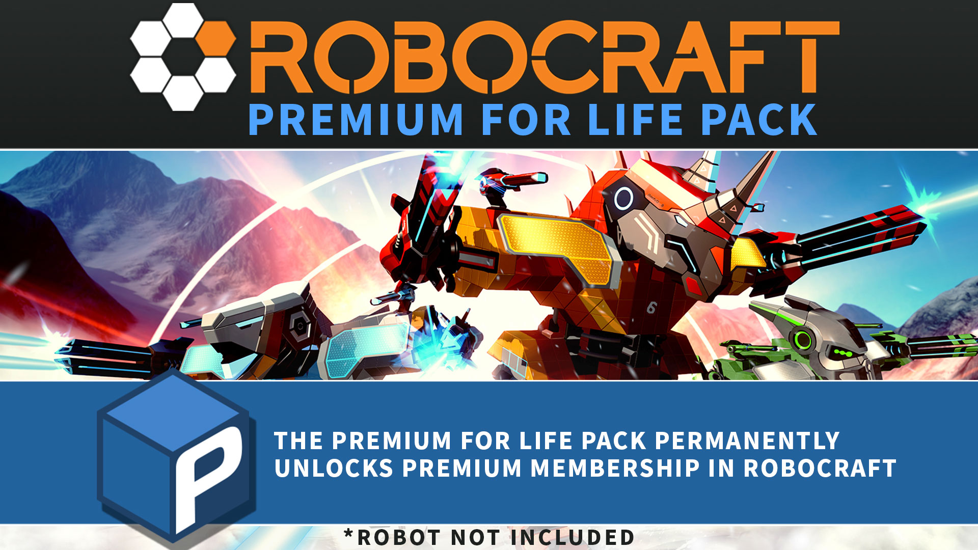 Robocraft - Lifetime Premium / Gameru.net
