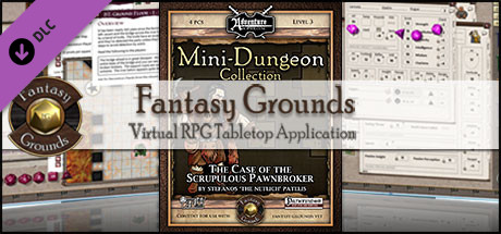 Fantasy Grounds - Mini-Dungeon #013: The Case of the Scrupulous Pawnbroker (PFRPG)