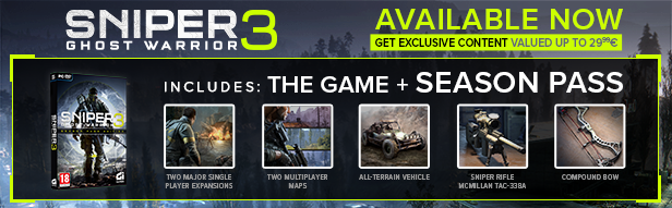 Sniper Ghost Warrior 3 Season Pass brings you access to the entire range of  downloadable content.